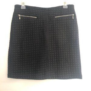 Laundry by Shelli Segal Black Textured Zip Skirt